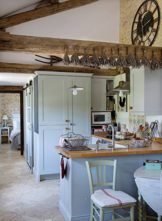 Cottage Kitchen and hall